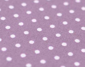 1yd x 44'' Purple Polka Dot Fabric / 100% Cotton / by the yard