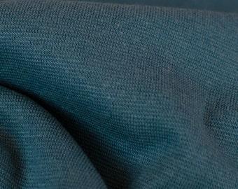 1yd x 32'' Teal Medium Weight Tubular Jersey Knit Rib Fashion Fabric / 97/3% Cotton/EA / by the yard