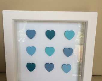 Handmade 3D heart box picture
