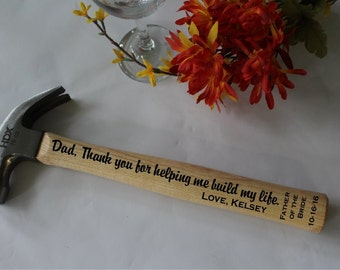Personalized Hammer, Engraved Hammer, Man Gift, Father of the Bride Gift - Custom Made