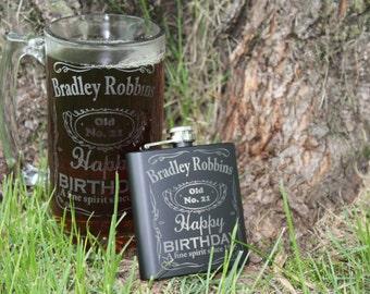 Personalized Birthday Mug, Custom Beer Mug, Whiskey Mug, Man Gift, Birthday Gift, Beer Gift, Engraved Beer Mug