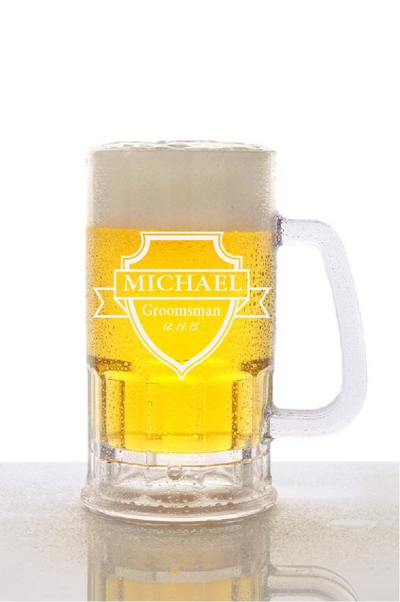 Wedding party beer mugs, personalized custom beer mug, best man gift ...