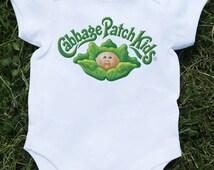 Baby bodysuit cabbage patch kids 1 One Piece onesie jersey bib Halloween costume