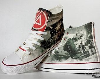 Linkin Park inspired, custom shoe decoration