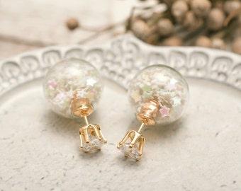 The White Christmas Air Bubble Earrings