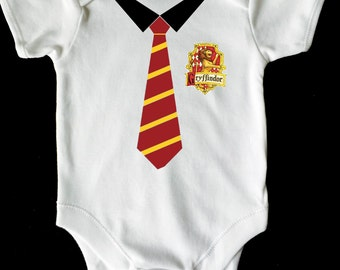 HARRY POTTER GRYIFFINDOR hogwarts bab vest/grow white available in all sizes