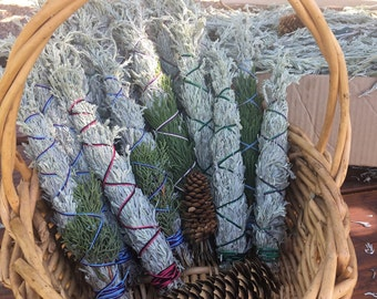 Sage smudge sticks for purification and aromatherapy hand picked in sacred Mt shasta