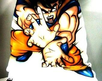 Airbrushed Dragon Ball Z Goku Car Seat Cover