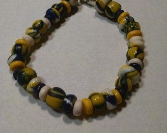 Handmade Polymer Clay Marbled Bracelet