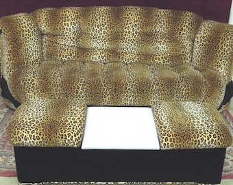 Leopard Faux Sofa  Ottoman Charles HaynesOne of a kind Concept
