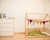 beliebte artikel f r montessori bed auf etsy. Black Bedroom Furniture Sets. Home Design Ideas
