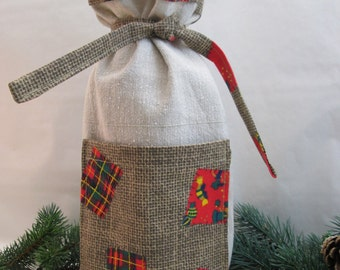 Bottle gift bag Christmas