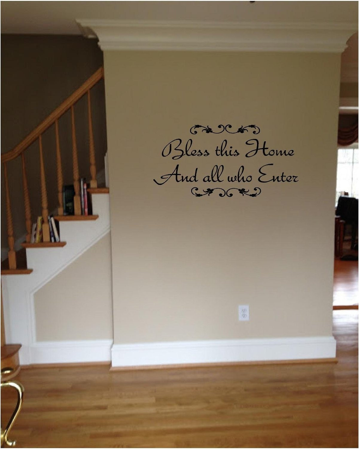 Bless This Home Welcome Inspirational Love Wall Quote