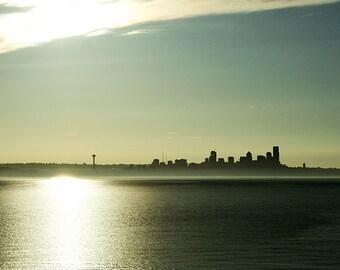 Seattle Sunrise, City Skyline and Space Needle