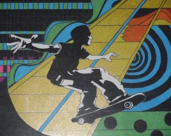 Skater boy, great for boy's room decor