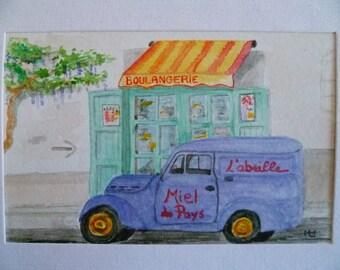 Original Watercolour Juva 4