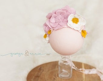 Felt Headpiece Baby Girl (Sitter) - Photography Prop