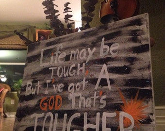 Handpainted Canvas Quote