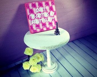 Miniature  Picture wooden sign it dollhouse furniture pink bedroom sleep bedroom Decore dollhouse