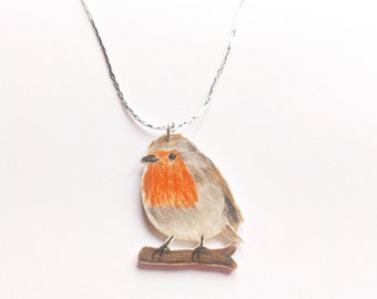 Robin necklace-silver