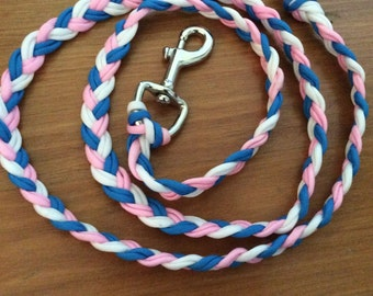 153cm blue/white/pink lead rope