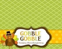 Printable Thanksgiving Treat bag topper // Thankful Treat bag //Thanksgiving Bag topper