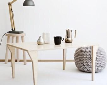 EQUALIFY.1 customized handmade plywood coffee table / modern, scandinavian design // original gifts / kids scandi interior