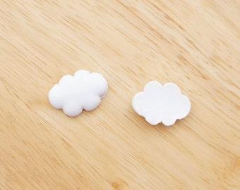 Pure Cloud 18mm x 25mm Flatback Cabochon Deco Resin Embellishments Scrapbooking Craft DIY Halloween - 1/5/20/100pcs
