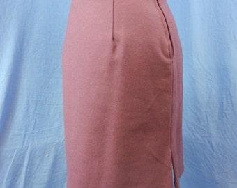 Pink wool pencil skirt