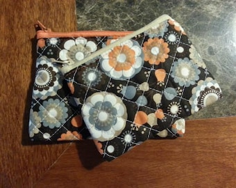 Fall Inspired Quilted Fabric Change Purse