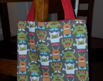 Children's Monster Tote Bag