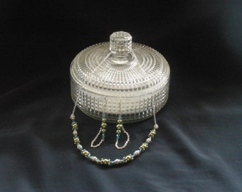 "green pearl bead 'Ball and Chain'; ""Ashley"""
