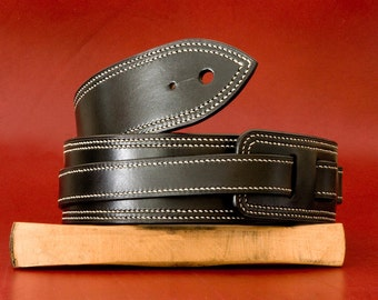 Leather guitar strap  2 inches wide