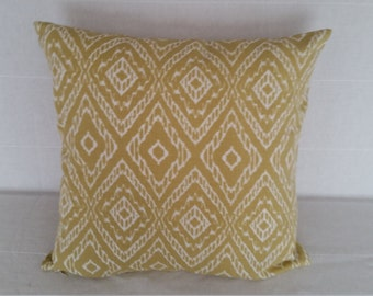 "Decorative Pillow Covers, Mustard Yellow 20"" x 20"" Geometric Pillow Covers"