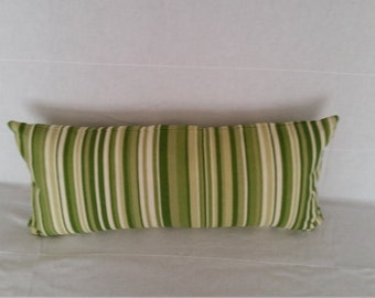 "Decorative Pillow Covers, 21"" x 9.5"" Forest Green Stripe Accent Pillow Cover"
