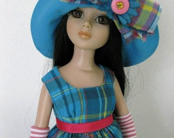 Plaid Happy from Garden Party collection for Ellowyne Wilde OOAK dress