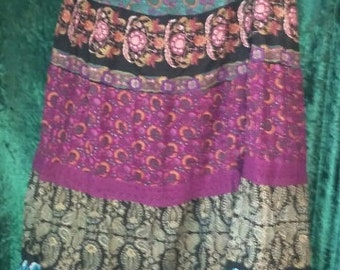 Gorgeous Hippie patchwork long skirt