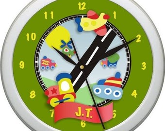 "Little Movers Personalized 10""Nursery Wall Clock"
