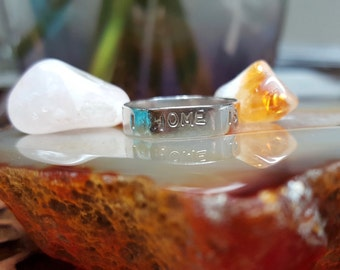 """Sterling Silver """"Home Is Where The Heart Is"""" Ring"""