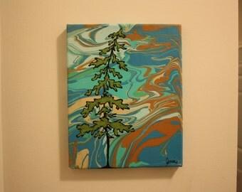 Acrylic Tree Painting on Canvas