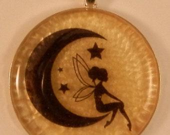 Gold pendant fairy | goud hanger elfje