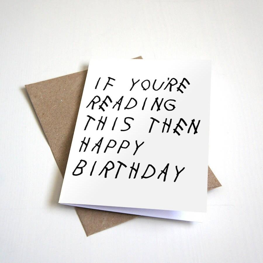 Hip Hop Birthday Cards gangcraftnet – Drake Birthday Card