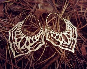 SALE! New Beginning Brass Earrings