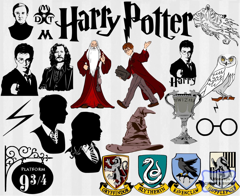 Harry Potter SVG Harry Potter dxf harry potter by 5StarClipart