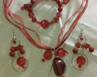 Red set of three