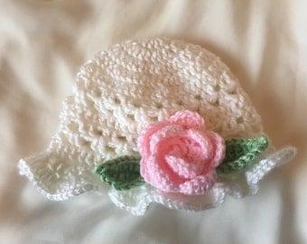 Rose Baby Sun Hat