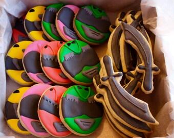 Power Ranger Party Ninja Sword Sugar Cookies - 1 Dozen!