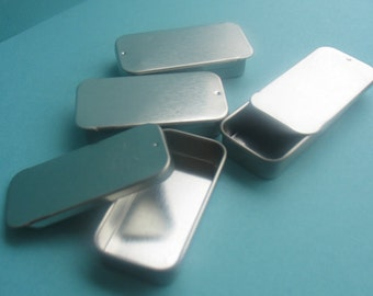 Metal Slider Tins - DIY Lip Balm - DIY Solid Perfume - DIY Wedding Favors - Tin Containers - Metal - Empty Containers