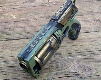 Steampunk Nerf Gun Green and Gold Pirate Time Traveler Space Captain