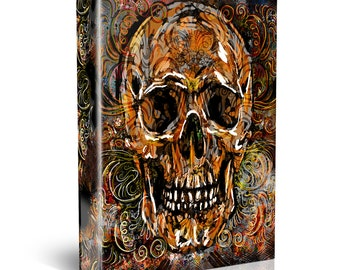 Skull Painting, Sugar Skull Canvas, Day of the Dead painting